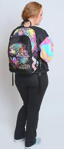 Fearless Lion Multi Color Fabric Backpack