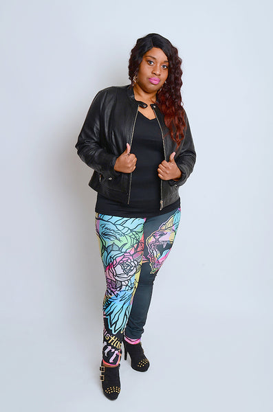 Fearless Lion Multi Colors Leggings