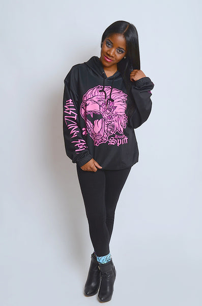 Fearless Lion Hot Pink Hoodie