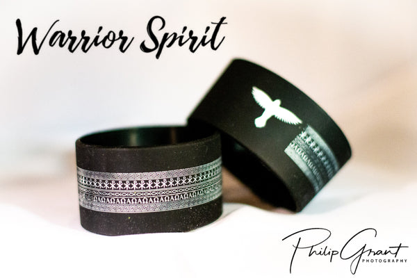 Warrior Spirit 1.5-inch Silicone Wristband (*Debossed ) (Qty: 1/per order)
