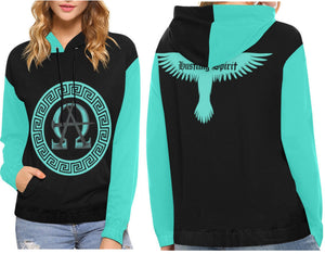 AΩ Alpha Omega Turquoise Hoodie