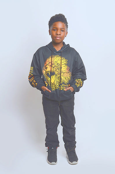 Fearless Lion Gold Kids Unisex Hoody