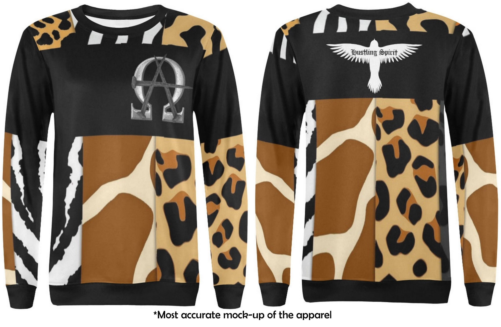 Alpha Omega Sweatshirt Animal Print OG