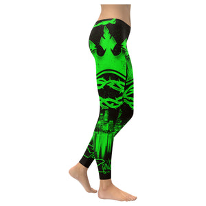 Crown HL Green Low Rise Leggings