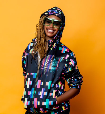 Footsteps Cross MultiColor Unisex Zip Up Hoody