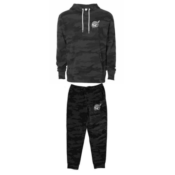Footsteps Black Camo Hoody Sweatsuit (2-piece set)