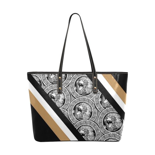 Fearless Lion Stripe Large Tote Bag