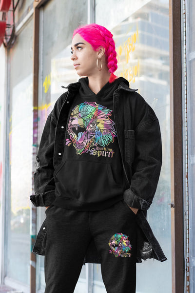 Fearless Lion Multi Color Hoodie
