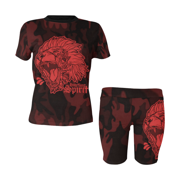 Fearless Lion Camo Women's Short Yoga Set (Qty=2 Piece)
