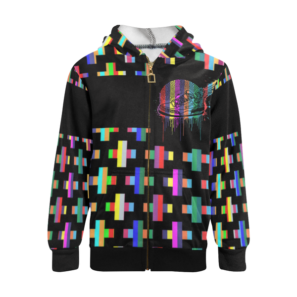 Footsteps Cross Multi-Color Kids Zip-Up Hoody