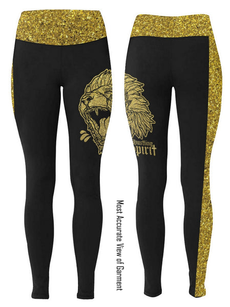Fearless Lion Gold Shine Leggings