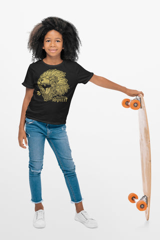 Fearless Lion Gold Shine Crew Neck Tee Kid Size