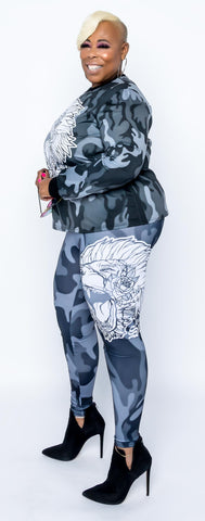 Fearless Lion Camo Leggings