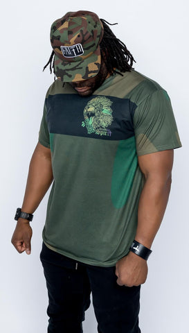 Fearless Lion Camo All Over Print Tee