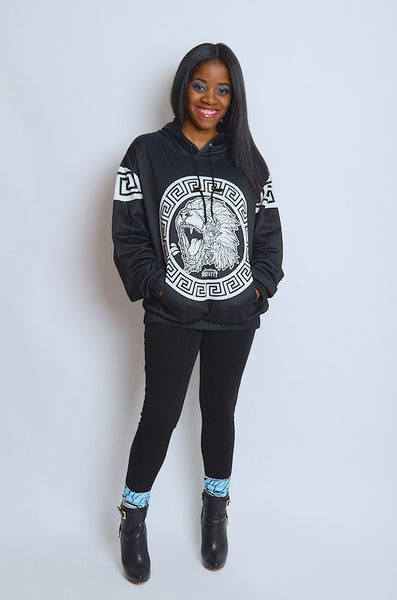 Fearless Lion BW Hoodie
