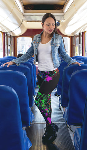 Compass Leggings Paint Splatter