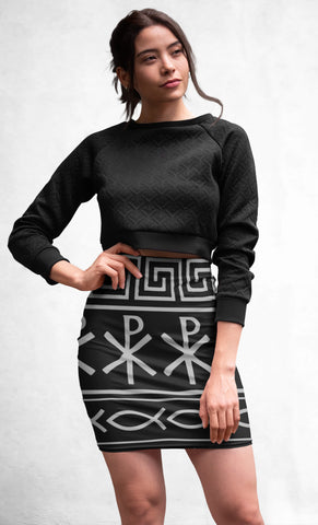 Warrior Spirit Sublimation Cut & Sew Pencil Skirt