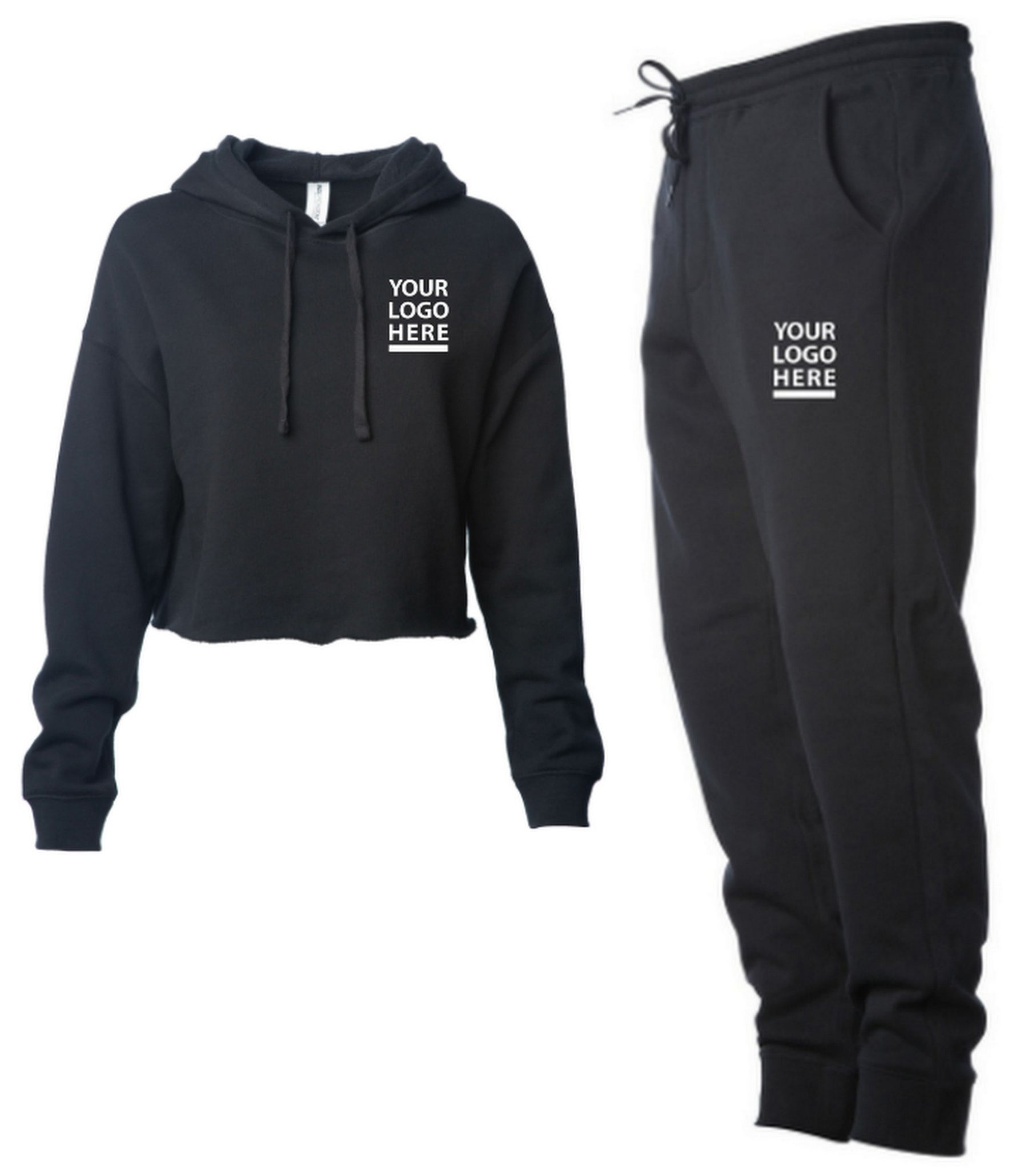 Alumni Crop Hoody Sweatsuit (2-Piece Set)