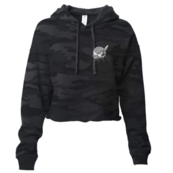 Footsteps Black Camo Crop Hoody Sweatsuit (2-piece set)