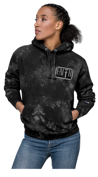 Faith Unisex Hustling Spirit X Champion Tie-Dye Embroidered Hoodie