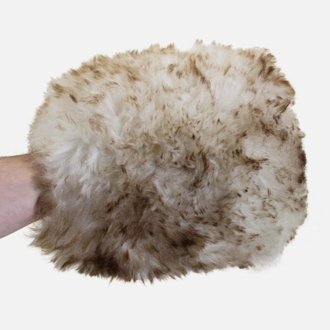 Supernatural Wash Mitt 'Wookie's Fist' - long hair 100% natural lambswool mitt