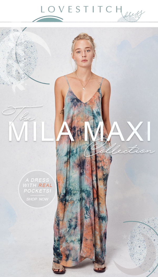 Lovestitch mila maxi dress with Pockets!