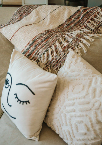 Coastal Fringe Beach Throw