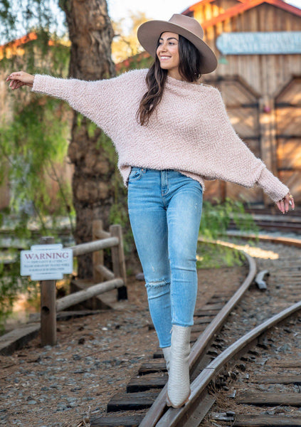 Loveable Fuzzy Off Shoulder Sweater