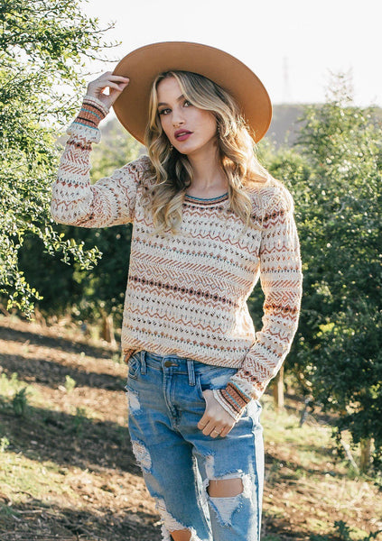 Golden Hour Crochet Sweater