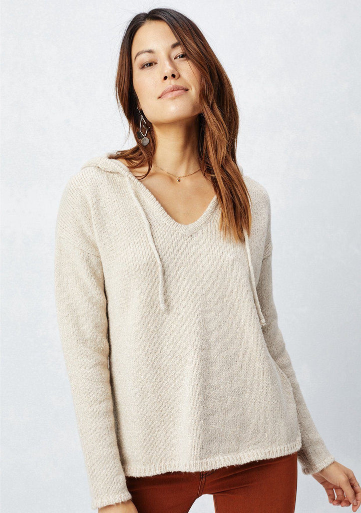[Color: Heather Petal] Lovestitch cozy and super soft V-neck pullover hoodie