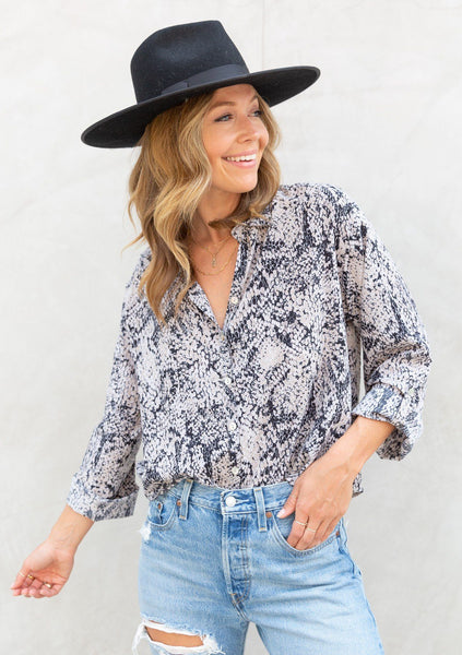 Bewitching Button Up Blouse