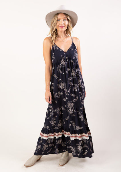 Twirl Me Floral Maxi Dress