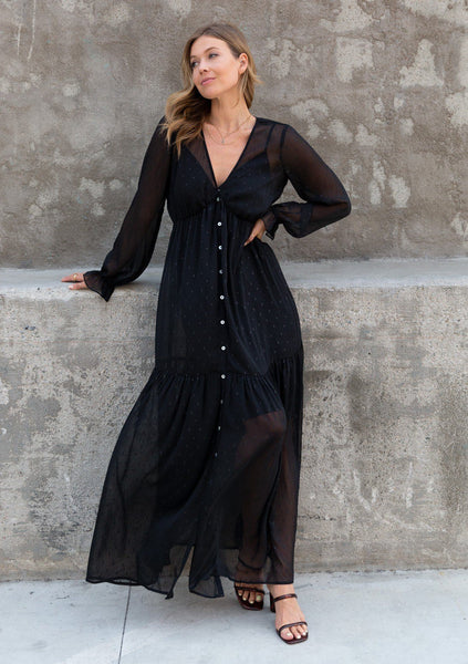 Night Sky Bohemian Maxi Dress