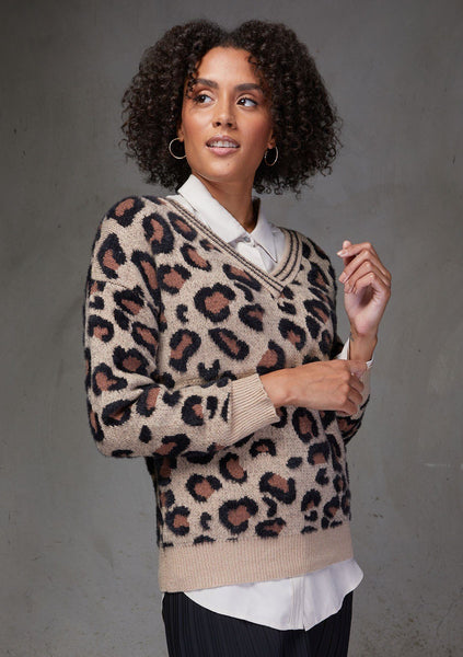 Lucky Leopard Print Sweater