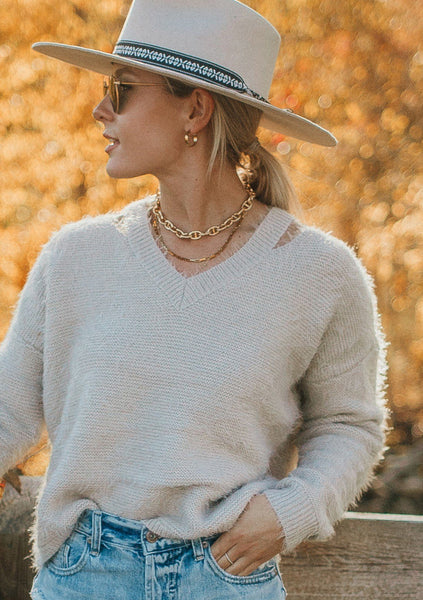 Angelic Fuzzy Cut Out Sweater