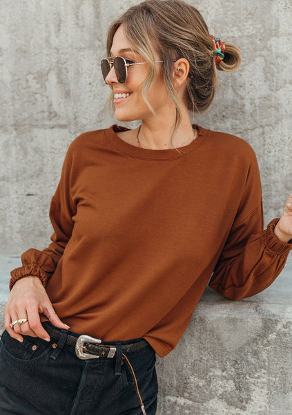 Go With The Flow Cropped Sweatshirt