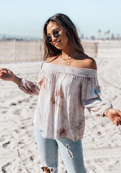 Wonder Off Shoulder Tie Dye Top