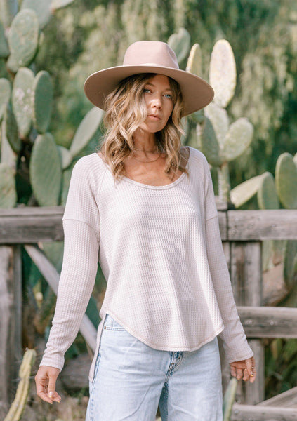 Valley Waffle Knit Long Sleeve Tee