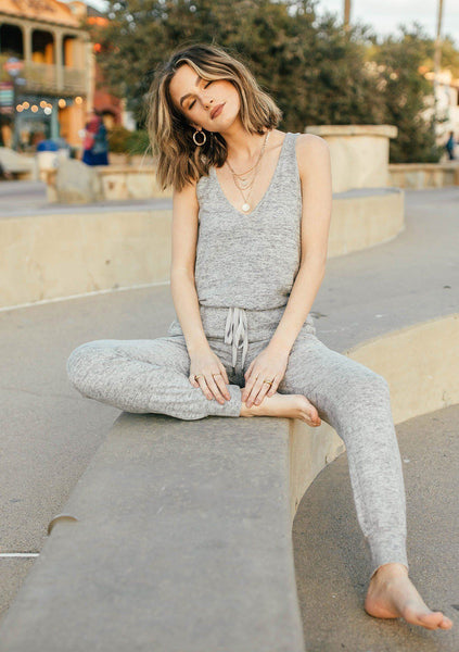Staying In Bed Sleeveless Jumpsuit