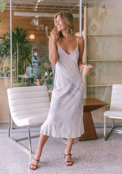 Cloud Burst Tie Dye Slip Dress