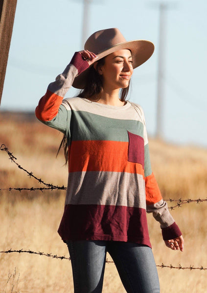 True Stripes Knit Pullover
