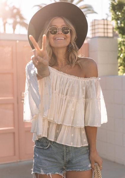 Boho Angel Off Shoulder Top