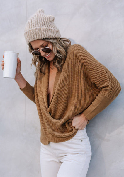 Glow Up Cross Front Sweater
