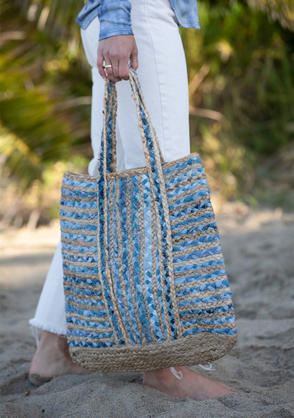 Hello Again Woven Tote Bag