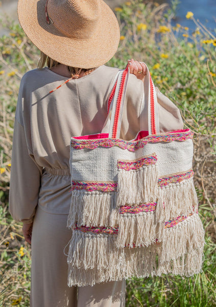 Seashore Fringe Tote Bag