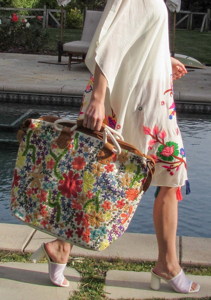 Desert Bloom Embroidered Weekender Bag