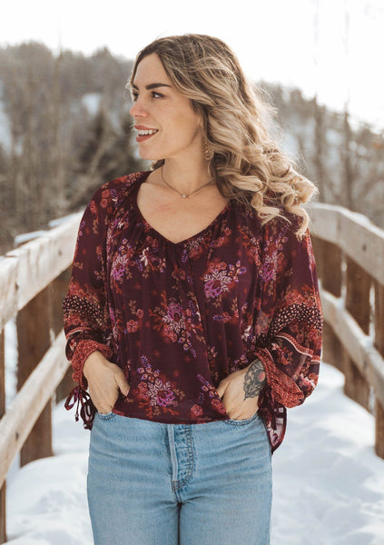 Love Story Floral Blouse