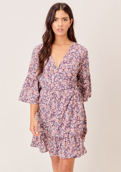 Taya Floral Wrap Dress