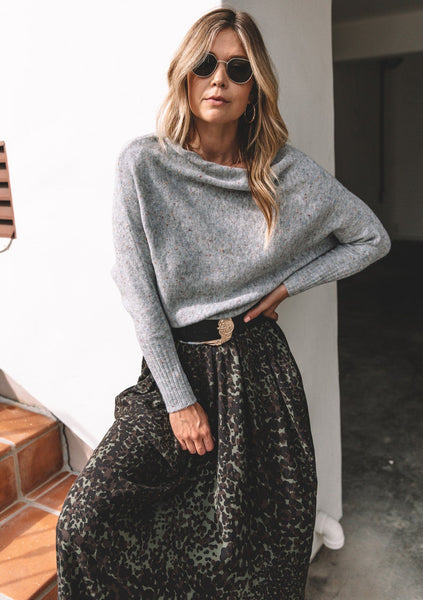 Lee Speckled Boatneck Sweater