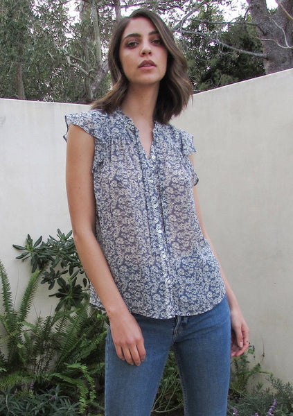 Daisy Chain Sheer Button Up Top